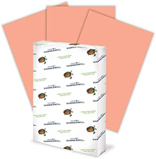 product image for Hammermill Colored Paper, 20 lb Salmon Printer Paper, 11 x 17-1 Ream (500 Sheets) - Made in the USA, Pastel Paper
