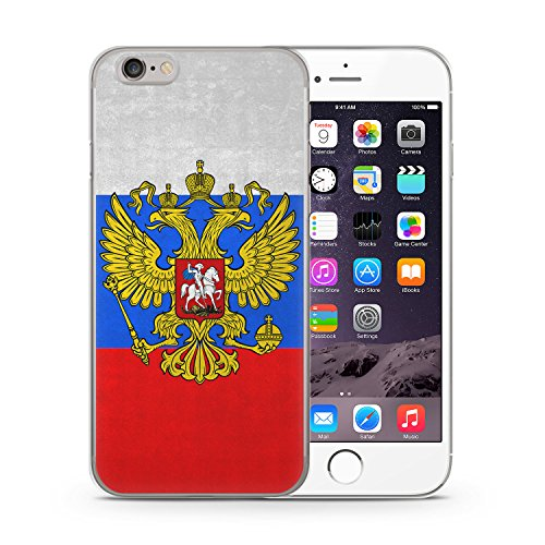 Russland Russia iPhone 6 & 6S SLIM Hardcase Hülle Cover Case Schutz Schale Rossiya Flagge Flag