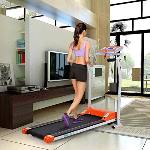 Folding Electric Treadmill with Smartphone APP Control, Power Motorized Fitness Running Machine Walking Treadmill (Orange) by Tomasar (Image #1)