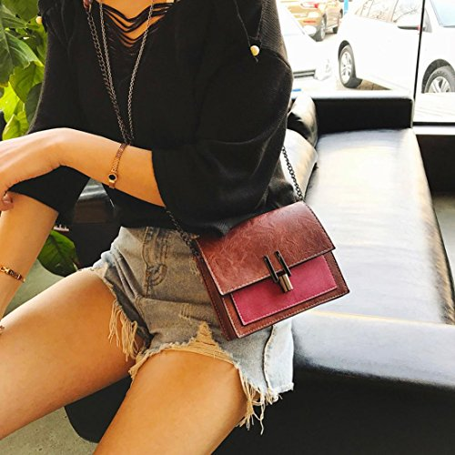 Vintage PU Ladies Patchwork Flap Small Sale Clearance Messenger Bag Red Casual Halijack Cellphone Girl Crossbody College Bag Leather Bag Mini Shoulder Women Purse Bag Handbags Wallet x0YwIYzXq
