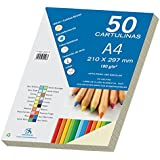 Dohe 30092 - Pack de 50 cartulinas, A4, color crema