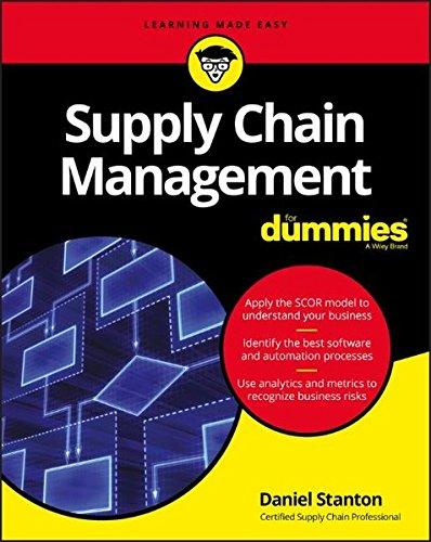Supply Chain Management For Dummies (For Dummies (Business & Personal Finance)) [Daniel Stanton] (Tapa Blanda)