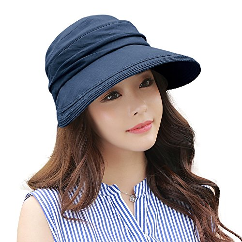 c2a3664d7c1 UV Protection Sun Hats Packable Summer Hat Women w Ponytail Chin Strap 55- 61CM Comhats