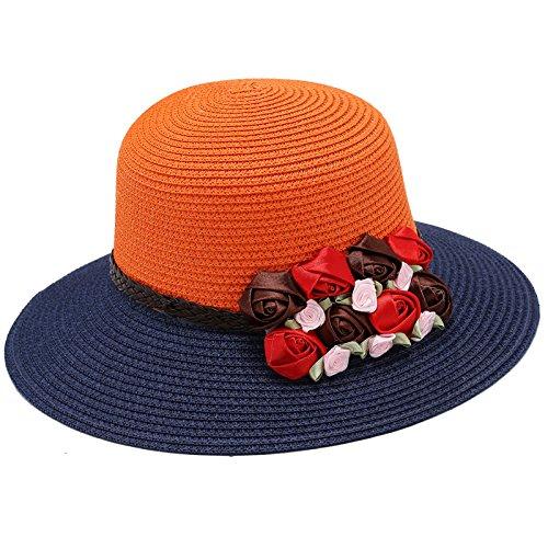 Baodery El Sol Schirmmütze Flor Sombrero De Corea - Verano - Moda - Viajes Beach Sombrero.,Pac (56-58Cm Code),Marine