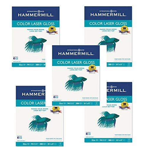 Limited Papers (TM) Hammermill Laser Gloss Bright White White 32# 8.5