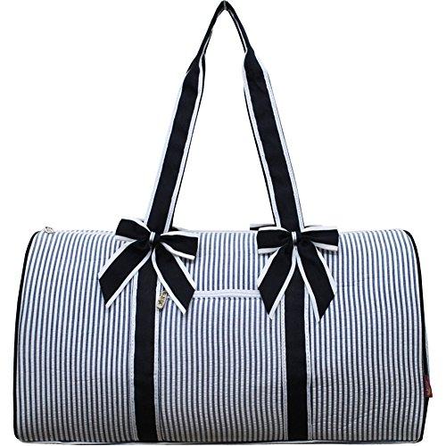 Seersucker Pattern Print NGIL Large Quilted Duffle Bag