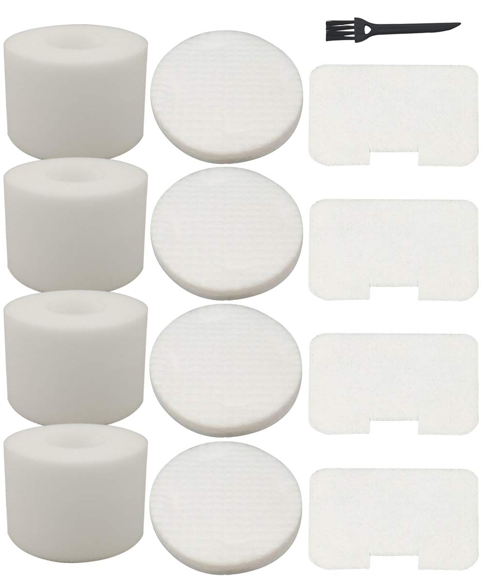 4 Pack Filters Kit Replacement for Shark Navigator Deluxe Upright Vacuum NV42, NV44, NV46, UV402 Part # XFF36 by Dttery
