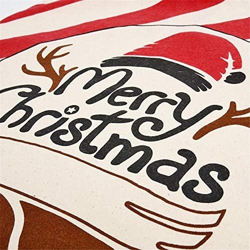Grandi Sacchi di Babbo Natale Yunt-11 Sacchetti Regalo di Natale riutilizzabili in Tessuto Resistente con Nastro e Etichetta Regalo per Sacchetti Regalo di Caramelle per Vacanze