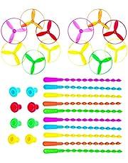 TOYANDONA 10Pcs Vliegende Schijven Twist Disc Flyer Schoteltjes Spinning Shooter Flying Disc Speelgoed Voor Kinderen Party Gunsten En Prijzen