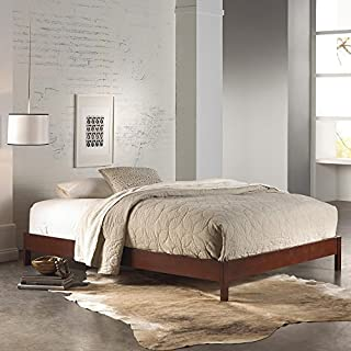 Leggett & Platt Murray Complete Wood Platform Bed with Bedding Support System and Box Design, Mahogany Finish, Full (B0015VBSO0) | Amazon Products