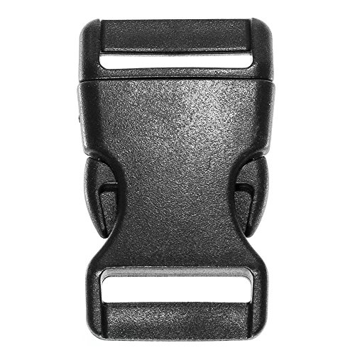 Sb 0.375 (West Coast Paracord Black Side Release Buckles - 5/8, 3/8, 3/4, 1/2, and 1 inch Sizes - Single or Double Bar - Pack Sizes from 10 to 1000)