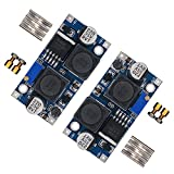 [2-PACK] Adjustable DC-DC Converter Automatic Wide Boost Buck Voltage Regulator XL6009 DC to DC 5.0-32 V to 1.25-35 V Voltage Module Board