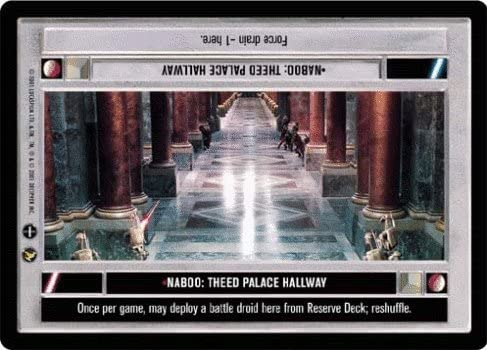 Star Wars CCG Theed Palace Rare Let/'s Go Left