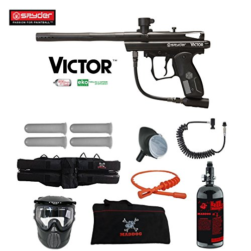 MAddog Spyder Victor Specialist HPA Paintball Gun Package - Black