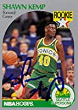 Shawn Kemp Signed Autographed NBA HOOPS Rookie Trading Card - Basketball Autographed Cards