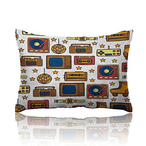 - Anyangeight 90s Cars Pillowcase 90s Theme with Old Style Recorder Stereo Television Roller Skate Shoes Electronic Watch Youth Pillowcase 20