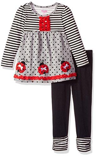 Nannette Girls 2 Piece Playwear Long Sleeve Top and Legging Set