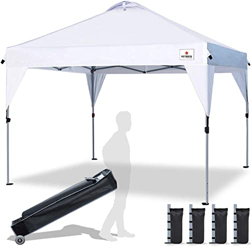 Keymaya Instant Canopy 10ftx10ft Outdoor Pop Up Portable Shade Canopy Quick Tent Canopy Picnic Canopy Collapsible Gazebo