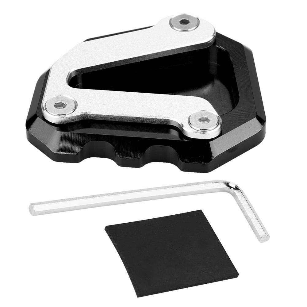Duokon Motorcycle CNC Aluminum Alloy Side Stand Kickstand Plate Extension Pad Enlarge for 790 DUKE 2018-2019 Black