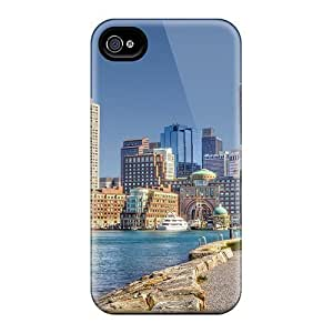 Awesome Design Beautiful Boston Harbor Hdr Hard Case Cover For Iphone 4/4s by icecream design