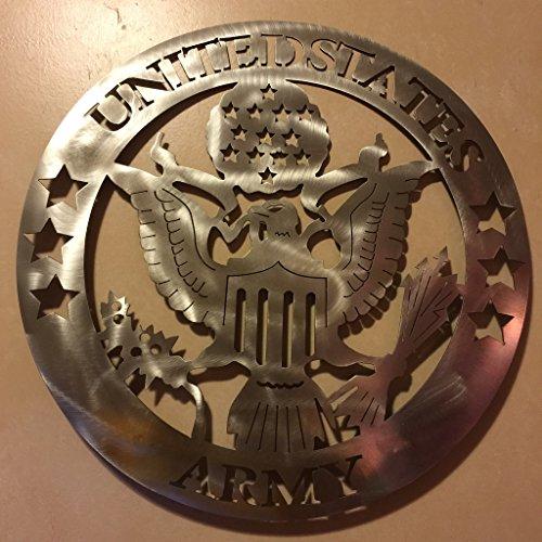 Metal Art of Wisconsin US Army Eagle Metal Art 2-Foot