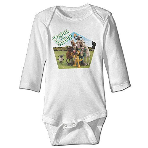 Yudou Shaun The Sheep Baby Bodysuits Unisex Long Sleeves (Animal Morph Suits)