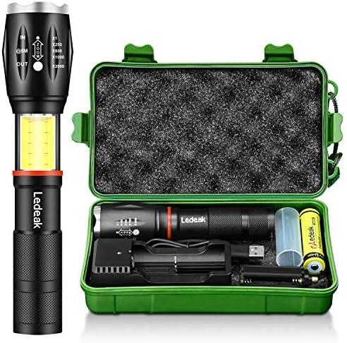 Tactical Flashlight Ledeak Waterproof Rechargeable product image