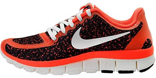 NIKE Free 5.0 V4 Running Sport Shoes Black/Infrared/White, EU Shoe Size:EUR 36