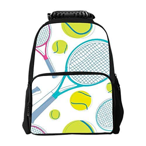 SARA NELL School Backpack Tennis Pingpong Backpack for Kids School Bag Lightweight Student Bookbags For Boys Girls