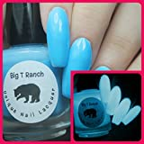 Glow-in-the-Dark Nail Polish Top Coat - FREE SHIPPING - Blue - LITTLE DIPPER - Nail Polish/Lacquer - Regular Full Sized Bottle (15 ml size)