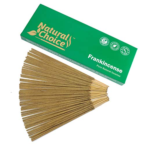 Natural Choice Incense Frankincense (Loban) Incense Sticks 100 Grams, Low Smoke Traditional Incense Sticks Made from Scratch, Never Dipped