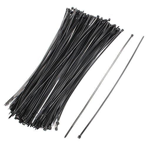 eDealMax réseau en Nylon câble Garniture fil Wrap Tie Cordon Bracelet Boucle 4x350mm 200 Pcs