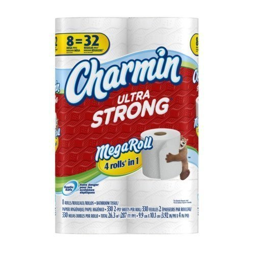 Price comparison product image CHARMIN BATH TISSUE TOILET PAPER ULTRA STRONG 8 MEGA ROLLS by Charmin