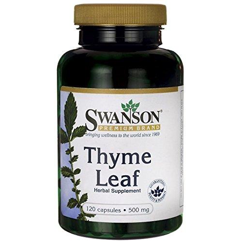 Swanson Thyme Leaf 500 Milligrams 120 Capsules