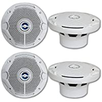 4 x JBL package 6.5 2-Way Marine Boat audio speakers with White Grille 180 watts each