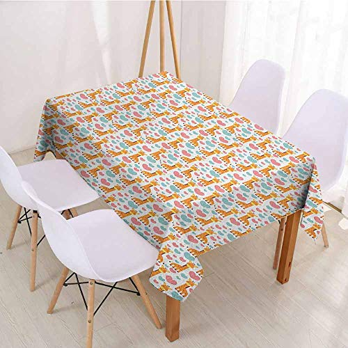 Giraffe Pastel - ScottDecor Christmas Tablecloth Table Cover W 70