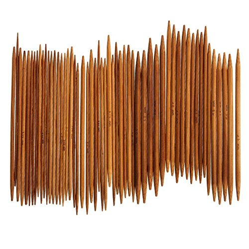 Pushhr 55Pcs Craft 3cm Weave Tool 11 Sizes Knitting Needle Bamboo Cochet Hooks