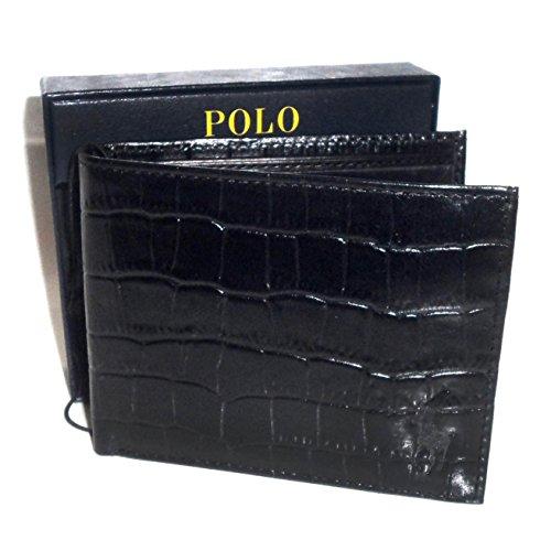 Ralph Lauren Croc (Ralph Lauren Croc Embossed Leather ID Passcase Wallet)