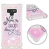 Galaxy Note 9 Case, UZER Shockproof Series Cartoon Cute Bling Quicksand Liquid Moving Flowing Twinkle Glitter Shining Sparkle Diamond TPU Bumper Protective Case for Samsung Galaxy Note 9 6.4'(2018)