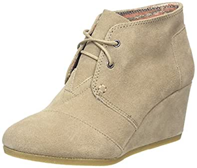Toms Women's Desert Wedge Casual Shoe (35-36 M EU/5 B(M) US, Taupe Suede)