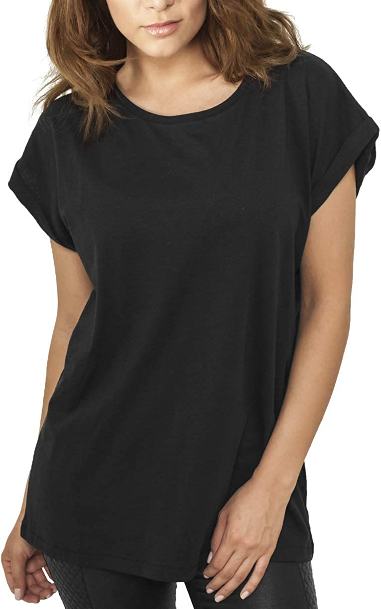 Urban Classics Ladies Extended Shoulder tee Camiseta para Mujer