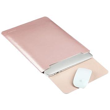 GENORTH® Funda de Cuero Microfibra PU Resistente al Agua para Apple ordenador portátil MacBook Pro / MacBook Pro Retina 15.4 pulgadas (15 pulgadas, Rose ...