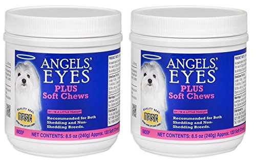 Angel's Eyes AENSC120PLBF 120 Counts Plus Soft Chews for Dogs (2-Pack)
