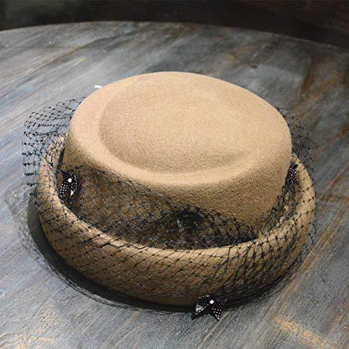 Autumn Winter Warm British Wind Wool Felt Hat Retro Art Lace Small Hat Beret