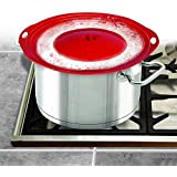 Pot Cover Spill Stopper Lid - Thicken Silicone Boil Over Spill Safeguard,FDA Food Grade Stopper Lid Cover for Pots And…