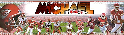 Personalized Kansas City Chiefs Banner Birthday Poster Custom Name Painting Wall Art Decor