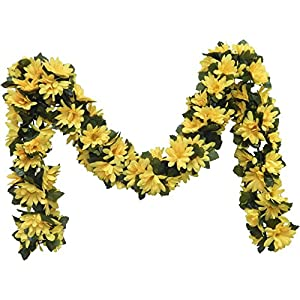 Ella and Lulu Dessign Daisy Chain Garland Wall Décor, One Size, Yellow 74