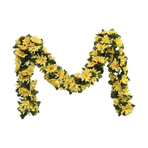 Ella and Lulu Dessign Fake Welcome Wedding Party Leaves for Home Interior Outdoor Indoor Window Centerpiece Decor Wall Décor, One Size, Yellow