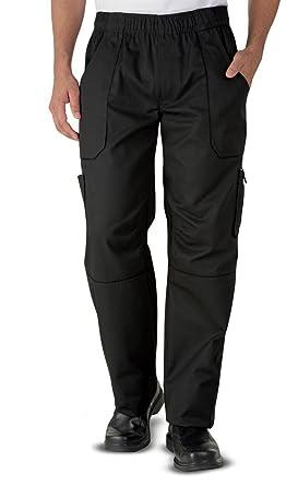 a8d2eb7d4c Superb Uniforms & Workwear Solid Executive Chef Pants - Black ...