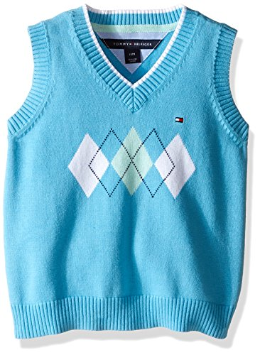Tommy Hilfiger Baby Boys' Henry Sweater Vest, ZEN Blue, 3 Months